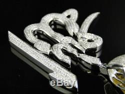 1.50Ct Round Diamond Custom Made Allah Arabic Islamic Pendant White Gold Finish
