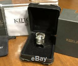 134g. CUSTOM MADE-BEYOND UNREAL King Baby Mohican Ring. 925 By Mitchell Binder