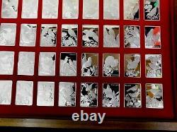 1974 Franklin Mint 50 Sterling Silver Ingots 50- 1.3 TROY OZ EACH FEW MADE