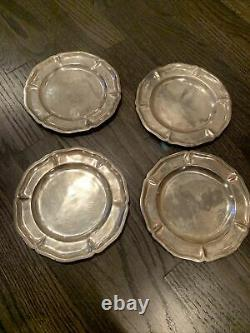 4 Sterling Silver Plates Made in Mexico 623 Grams