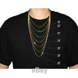 5mm Miami Cuban Link Chain Real 14K Gold Over Solid 925 Silver ITALY MADE