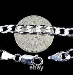 6MM Solid 925 Sterling Silver Italian CUBAN CURB Chain Necklace Made in Italy