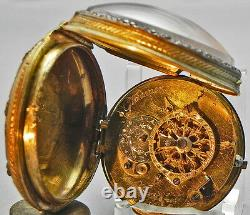 A 1 7/8 Inch Picture Verge Fusee Pocket Watch, Made By Glaesner Circa 1780