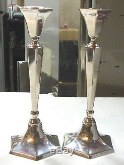 A lot of 2 Hand Made Silver Candlestick Sterling Silver Hazorfim 800