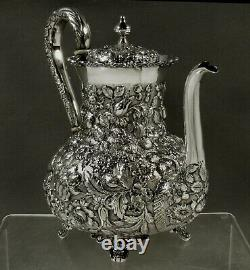 AG Schultz Sterling Coffee Pot c1910 HAND MADE