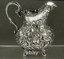 AG Schultz Sterling Pitcher c1910 HAND MADE