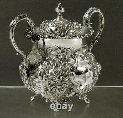 AG Schultz Sterling Sugar Bowl 1901 HAND MADE