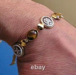 ANTIQUE STYLE CAMEO BRACELET WORKED HAND Vintage Artisan made in italy