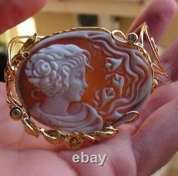 ANTIQUE STYLE CAMEO BRACELET WORKED HAND Vintage Artisan made in italy Flower's