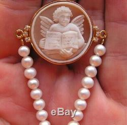 ANTIQUE STYLE CAMEO BRACELET WORKED HAND Vintage Artisan made in italy angel