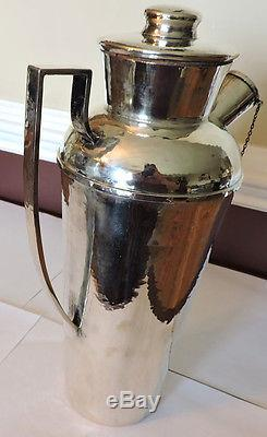 American Art Deco Sterling Silver Cocktail Shaker Made In Chicago USA By Lebolt