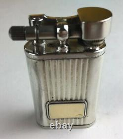 Antique 925 Sterling Silver & 18K 750 Gold Lift Arm Type Lighter Made In Italy