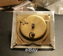 Antique Art Deco Swiss Made Sterling Silver & Blue Guilloche Enamel Travel Clock