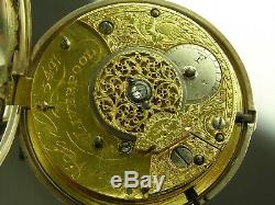 Antique English verge fusee Doctor's pocket watch. Made 1806. Serviced. Rare
