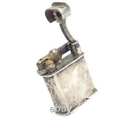 Antique Sterling Silver Lift Arm Lighter Made in Mexico with Flint Sparks