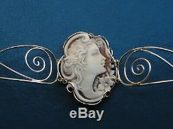 Antique Style Victorian Shell Cameo Bracelet Made In Italy