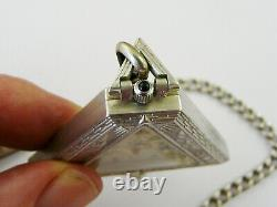 Antique Triangle Masonic Swiss Made Mechanical Sterling Silver Pocket Watch Vgc