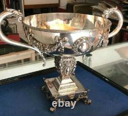 Art deco punch bowl made of fine sterling silver (925), European, 1448 gr