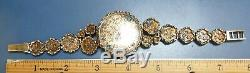 Artisan Bracelet WatchSterling Silver 925Man'sHand MadeEstate PieceUnique