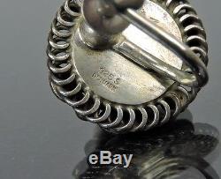 Auth Georg Jensen Sterling Silver 925 Screw Back Earrings 39b Made In Denmark