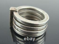 Authentic GUCCI Made in Italy Sterling Silver 925 Ring US Size 6