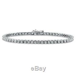 BERRICLE Sterling Silver Wedding Tennis Bracelet Made with Swarovski Zirconia