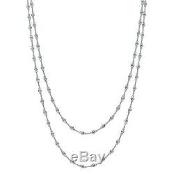 BERRICLE Sterling Silver by Yard Wedding Necklace Made with Swarovski Zirconia