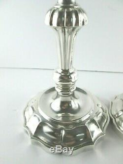 Beautiful Ornate Sterling Silver Candlesticks, made for Tiffany & Co