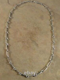 Ben Begaye Navajo Heavy 24 1/2 Inch Sterling Silver Hand Made Chain