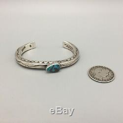 Bisbee Turquoise And Sterling Silver Bracelet Made By Orville Tsinnie