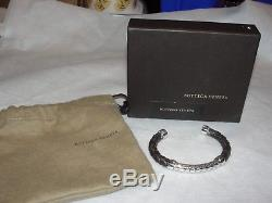 Bottega Veneta Sterling Silver/leather Bracelet Made In Italy LUXURY BRAND