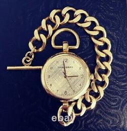 Burberry Mini Waterloo BU5304 Ladies Swiss Made Watch Curb Link Toggle Clasp