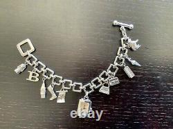 Burberry Signature Charm Bracelet Watch Sterling Silver BU5200 Swiss Made