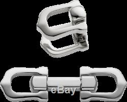 Cartier Elongated C Shape Cufflinks Sterling Silver 925 Made in France Signature