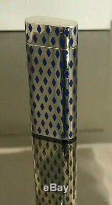 Cartier Lighter Sterling Silver & Blue Enamel Limited Edition 1500 Swiss Made