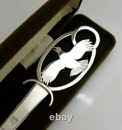 Cased Hand Made Eagle Solid Sterling Silver Bird Letter Opener 1989
