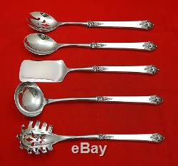 Castle Rose by Royal Crest Sterling Silver Hostess Set 5pc HHWS Custom Made