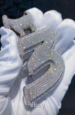 Custom Made Any Name Pendant 3 CZ/VVS Moissanite/925 Sterling Silver