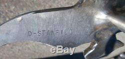 Custom Made Engraved Sterling Silver Horse Head Curb Bit by Stanfill