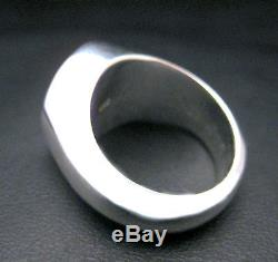 Custom Made Family Crest Signet Ring Engraved Sterling Silver By Joller
