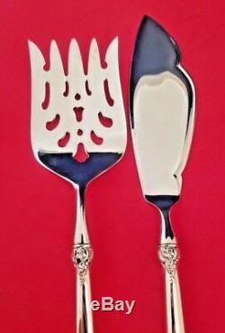 Custom Made Grande Baroque by Wallace Sterling Silver Fish Serving Set