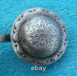 Custom Made Thin Mouth Domed Sterling Silver Conchos Horse Bit