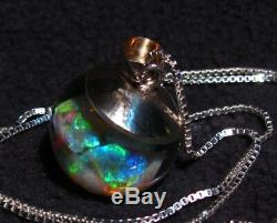 Custom made Floating Opal Necklace. Choose Your Own 6+ Carats Australian Opal