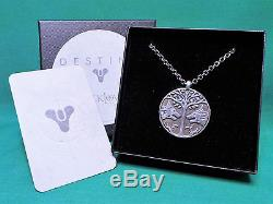 Destiny Iron Banner Pendant Necklace Medallion & Chain Sterling Silver 100 Made