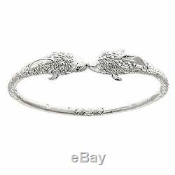 Dolphin. 925 Sterling Silver West Indian Bangle (MADE IN USA)