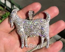 Eid Special Custom Made Goat Flooded Diamonds 925 Sterling Silver Pendant