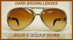 Elvis Metal Sterling Silver Sunglasses Aviator Custom Made