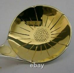 English Solid Sterling Silver Modernist Ladle Hand Made London 1984 Stunning