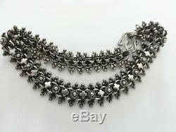 FAB Victorian 925 STERLING SILVER ETRUSCAN ORNATE Bracelet Book Chain HAND MADE