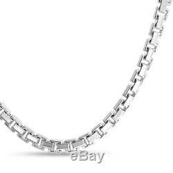 Franco Square Chain Greek Key 025 Gauge Sterling Silver Made Italy